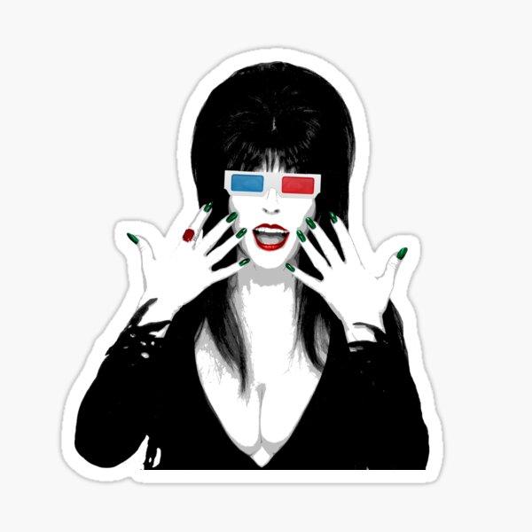 Elvira 3-D Glasses Sticker