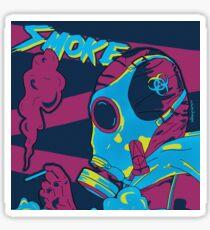 Smoke Synthwave Rainbow Six Sticker