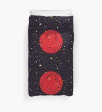 Gato Rojo Cósmico Duvet Cover