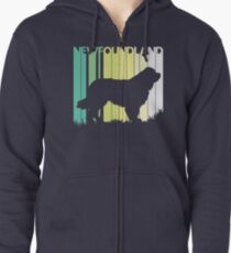 Cute Newfoundland Silhouette Zipped Hoodie