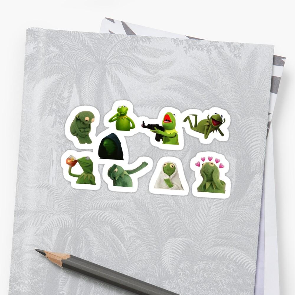Kermit Meme Aufkleber Set Sticker