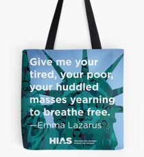 HIAS Statue of Liberty Tote with Emma Lazarus Quote Tote Bag