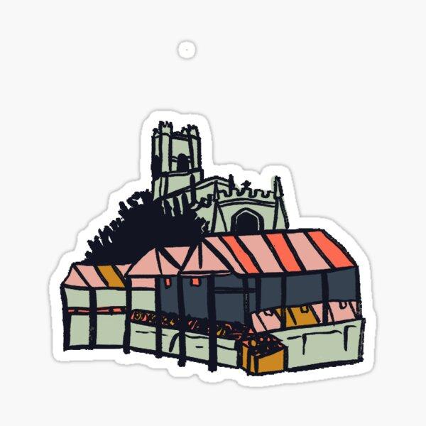 British Market sticker Sticker