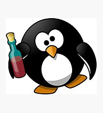 Penguin alcoholic. Photographic Print