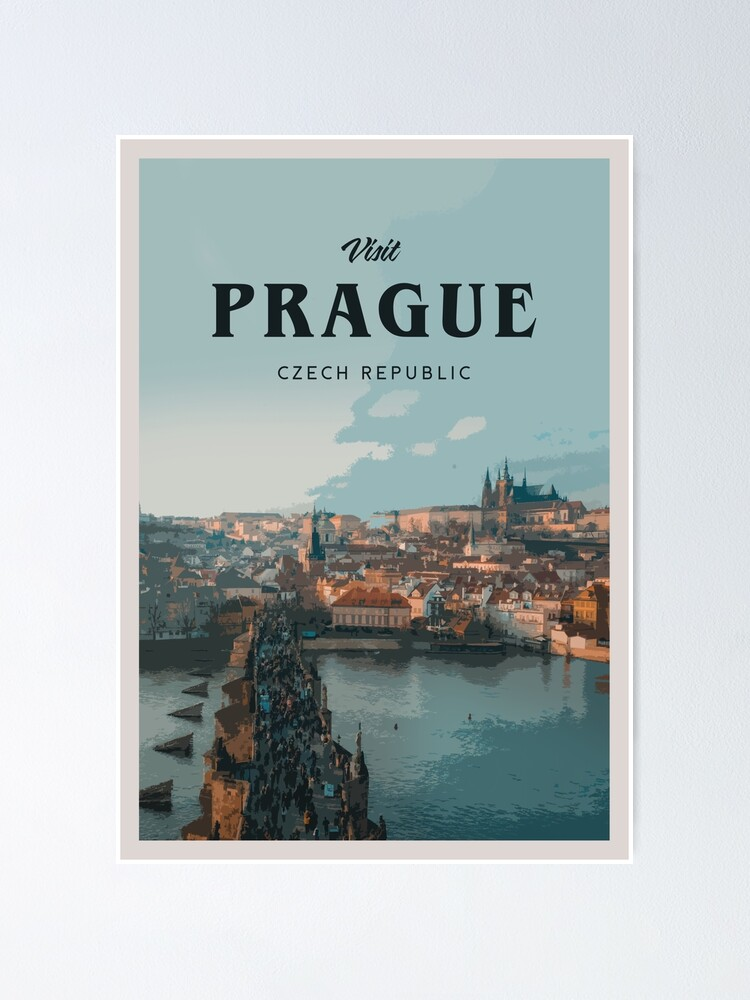Alternate view of Prague Poster