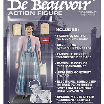 Simone De Beauvoir Action Figure by GiantsOfThought