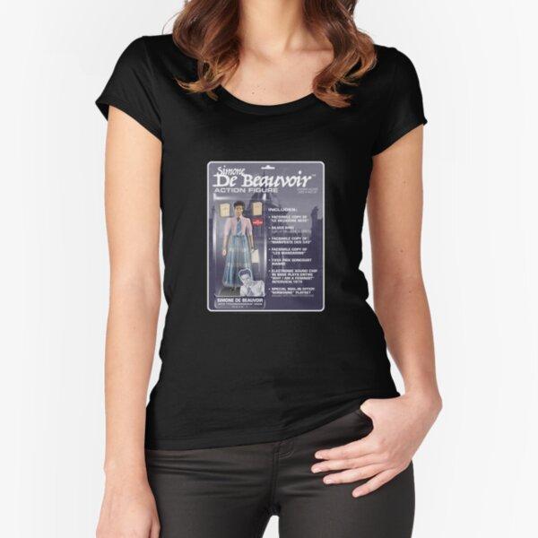 Simone De Beauvoir Action Figure Fitted Scoop T-Shirt