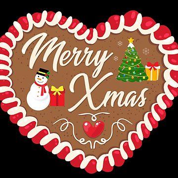 Merry X-mas Gingerbread Heart by peter2art