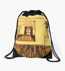 THE OTHER SIDE OF THE ROOM Drawstring Bag