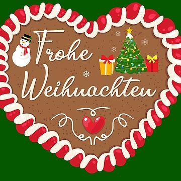 Merry Christmas gingerbread heart by peter2art