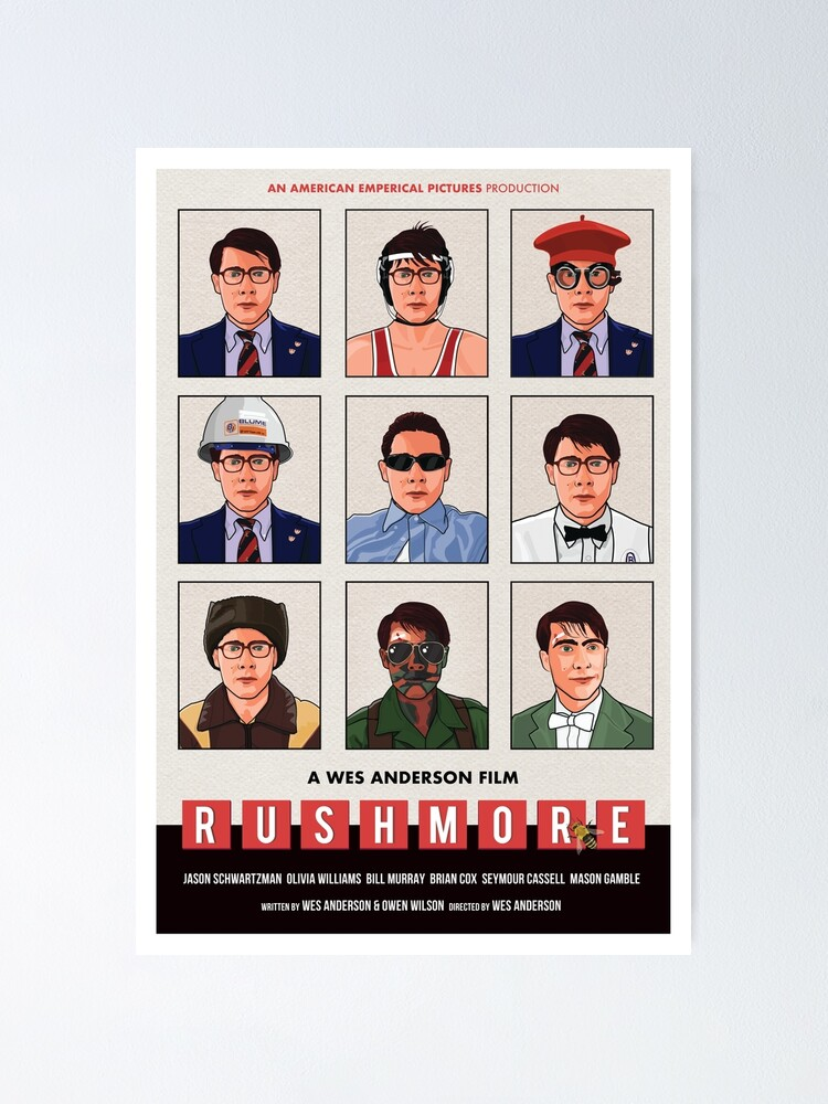 "Wes Anderson's ""Rushmore"" movie poster"" Poster by cwayers 