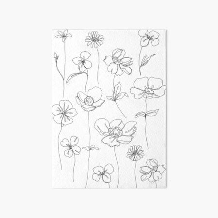 Botanical floral illustration - Botanicals White Art Board Print