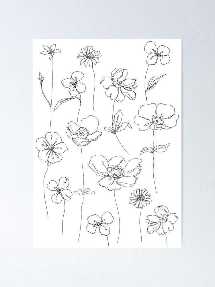 Alternate view of Botanical floral illustration - Botanicals White Poster