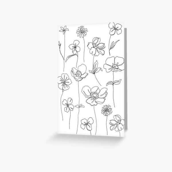 Botanical floral illustration - Botanicals White Greeting Card