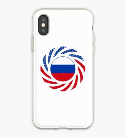 Russian American Multinational Patriot Flag Series iPhone Case