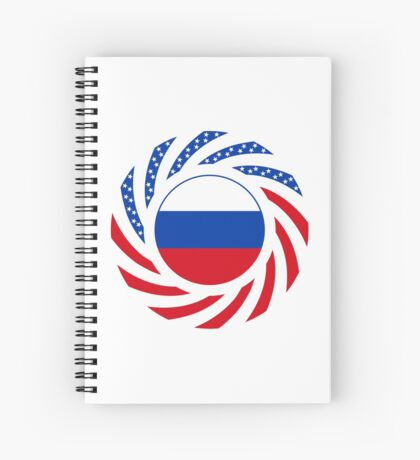 Russian American Multinational Patriot Flag Series Spiral Notebook