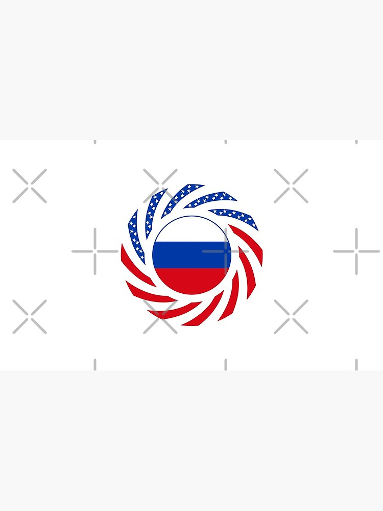 Russian American Multinational Patriot Flag Series by carbonfibreme