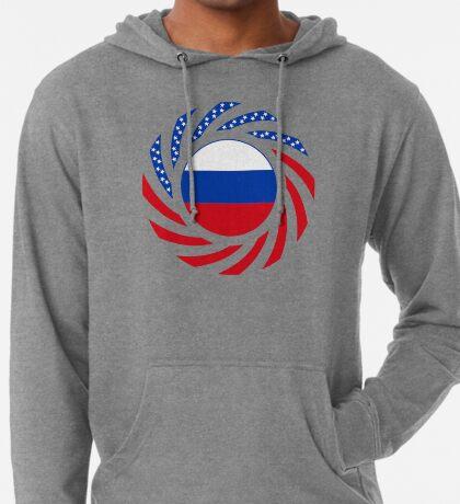Russian American Multinational Patriot Flag Series Lightweight Hoodie
