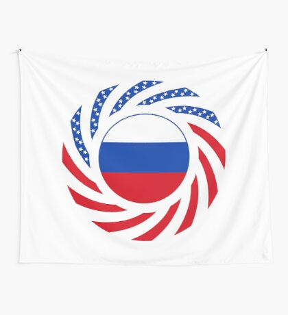 Russian American Multinational Patriot Flag Series Wall Tapestry