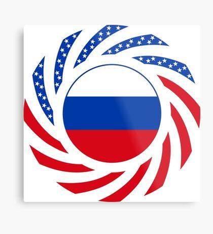 Russian American Multinational Patriot Flag Series Metal Print