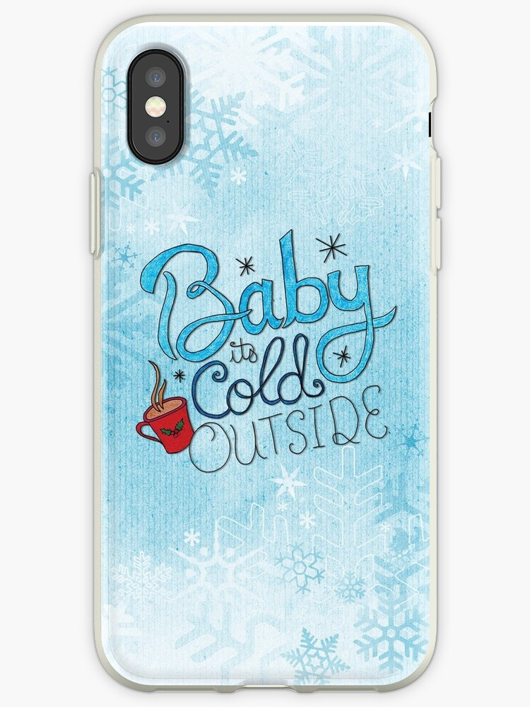meet 2441c 5307c 'Baby it's Cold Outside' iPhone Case by Caites