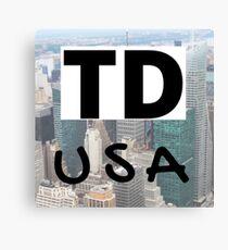 Travel Destination USA Canvas Print