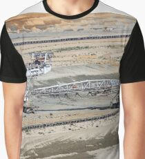 Giant excavator working on opet pit coal mine Graphic T-Shirt