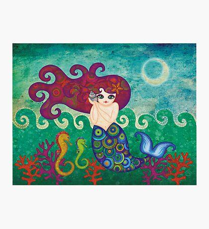Moonface Mermaid Photographic Print