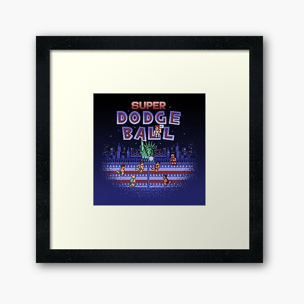 Super Ball Dodge Framed Art Print