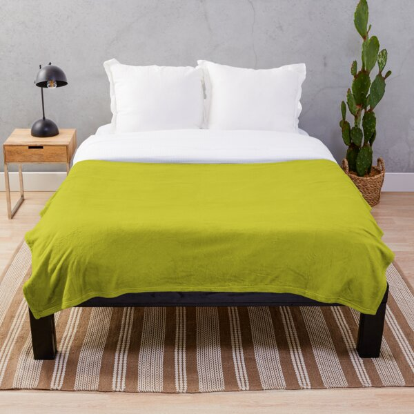 Solid Chartreuse Throw Blanket