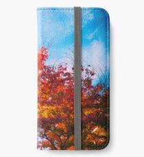 Red maple iPhone Wallet/Case/Skin