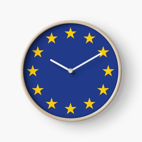Peoples' Vote: Remain in EU (EU flag stars) Clock