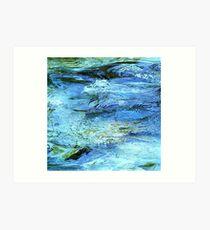 Blue water - Ammer Art Print
