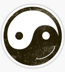 yin yang smiley Sticker