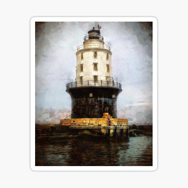Harbor of Refuge Lighthouse Delaware DRBLHF Sticker