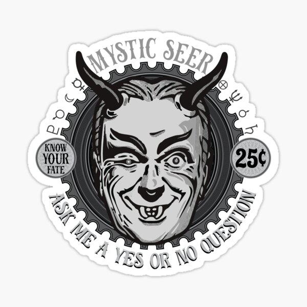 'Nick Of Time' Mystic Seer Sticker