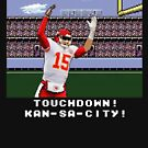 Patrick Mahomes Pixel Touchdown Chiefs! by SkipHarvey