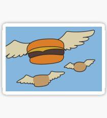 Bob's Burgers Flying Hamburger Sticker