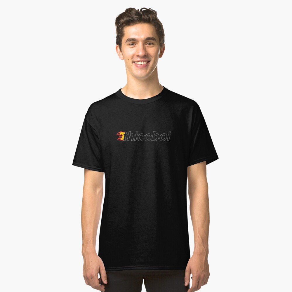 "Vintage ""Thicc Boi"" Fire Logo Camiseta clásica"