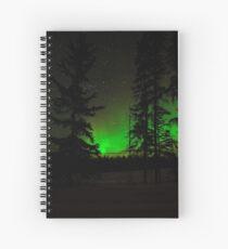 Green Auroras Spiral Notebook