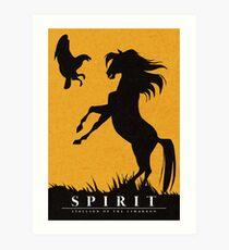 Spirit : Stallion of the Cimarron Minimalist Art Print
