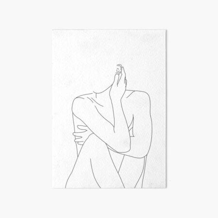 Nude figure illustration - Celina Art Board Print