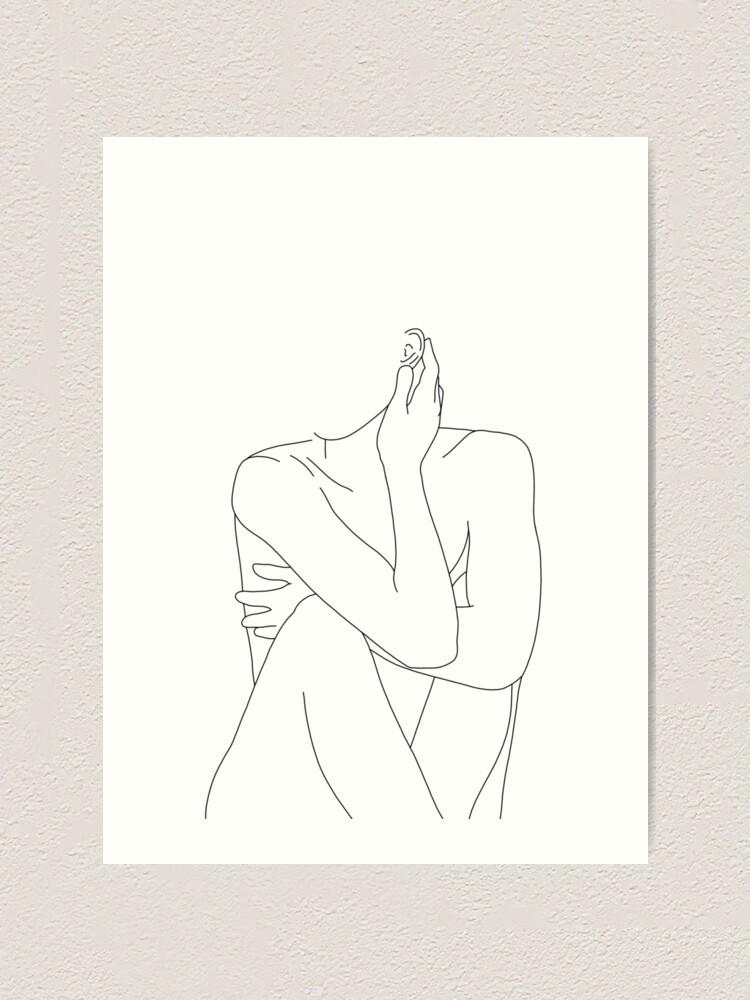 Alternate view of Nude figure illustration - Celina Art Print