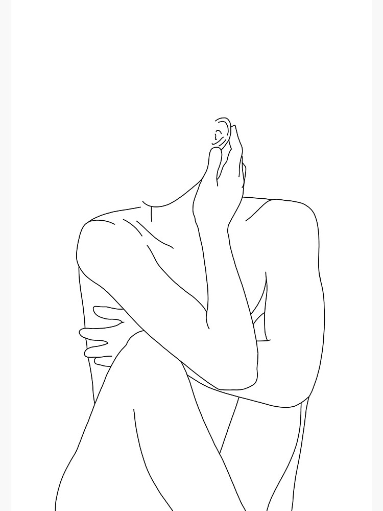 Nude figure illustration - Celina by TheColourStudy