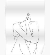 Nude figure illustration - Celina Poster