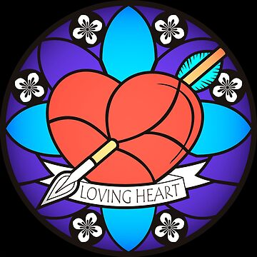 Loving Heart, stained glass' style. by alex-dolgushin