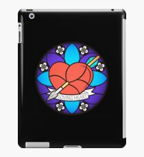 Loving Heart, stained glass' style. iPad Case/Skin