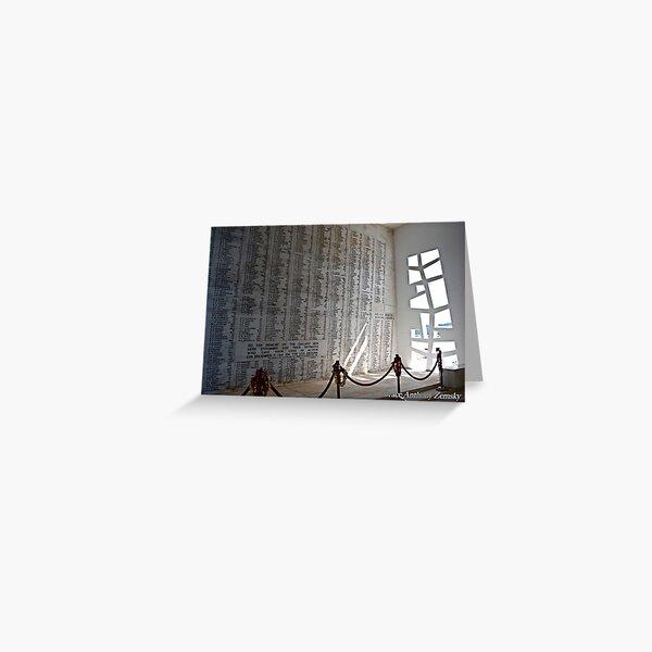 Pearl Harbor - Wall of Heroes Greeting Card