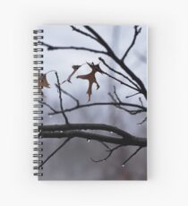 Winter Leaves with Water Drops Spiral Notebook