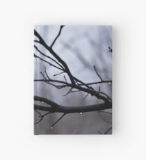 Winter Leaves with Water Drops Hardcover Journal